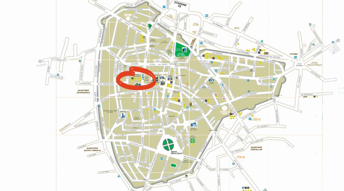 padova centro storico mappa